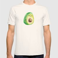 Miniature Avocado guy Mens Fitted Tee Natural SMALL