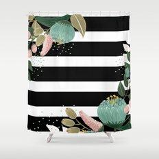 Fancy Lines Shower Curtain