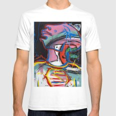 Self Reflectionism by Amos Duggan Mens Fitted Tee White SMALL
