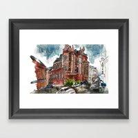 Santa Misa Rain Framed Art Print