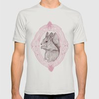 Cameo Squirrel Mens Fitted Tee Silver SMALL
