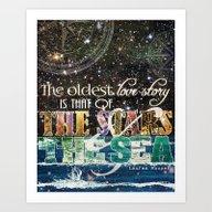 The Stars And The Sea Art Print