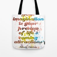 Imagination / Albert Ein… Tote Bag