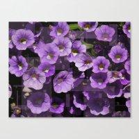 Purple Flower Kaleidoscope Canvas Print