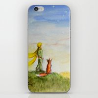 Little Prince, Fox and Wheat Fields iPhone & iPod Skin