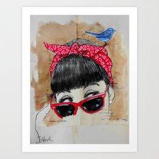 red bandana Art Print