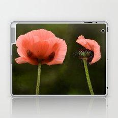 Couple Pink Oriental Poppies Laptop & iPad Skin