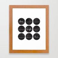 Love Laugh Live 2 (Black… Framed Art Print