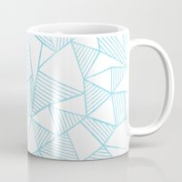 Abstraction Lines Watercolour Mug