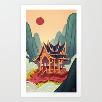 Air Temple Art Print