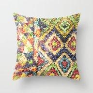 African Beadwork Throw Pillow