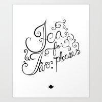 Tea For Two, Please Art Print