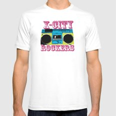 X-CITY ROCKERS SMALL White Mens Fitted Tee