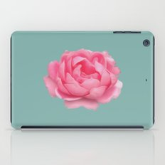 Rose on mint iPad Case