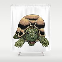 Happy Tortoise Shower Curtain