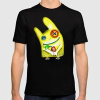 rabbit Mens Fitted Tee Black SMALL