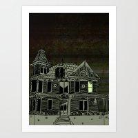 Haunted House #2 Art Print