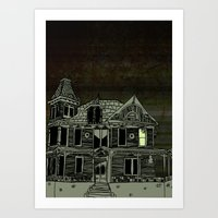 Haunted House #2 Art Print