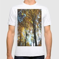 Sky View Mens Fitted Tee Ash Grey SMALL