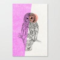Techno Owl Canvas Print