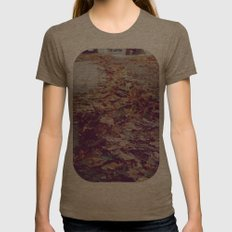 Autumn Path Womens Fitted Tee Tri-Coffee SMALL