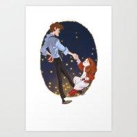 Little Amelia And Her Ra… Art Print