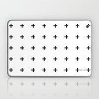 Black Plus On White /// … Laptop & iPad Skin