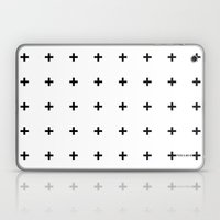 Black Plus on White /// www.pencilmeinstationery.com Laptop & iPad Skin