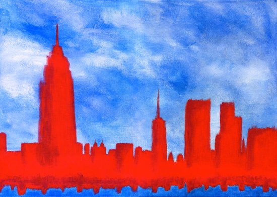 Bright Lights, Red City Art Print