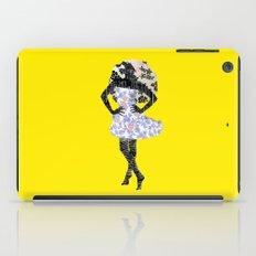 Paris Girl in Summer Plum Flower Pattern  iPad Case
