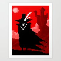 Vampire Hunter D on Pixel Art Print