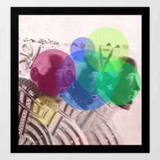 Threefold Art Print
