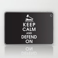 Keep Calm And Defend On Laptop & iPad Skin