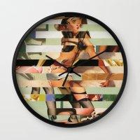 Glitch Pin-Up Redux: Randi Wall Clock