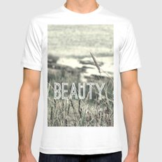 Beauty of Life White Mens Fitted Tee SMALL