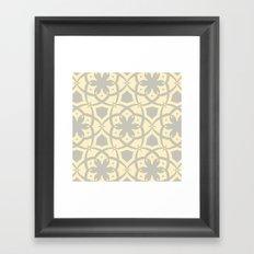 Pattern Print Edition 1 No. 1 (yellow and gray) Framed Art Print