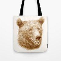 Brown Bear Is Happy Tote Bag