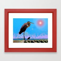Big Bird, Little Bird Framed Art Print
