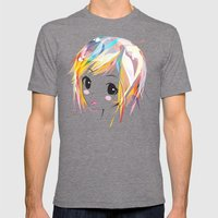 Miku Mens Fitted Tee Tri-Grey SMALL