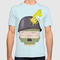 NO WAR  Mens Fitted Tee Light Blue SMALL