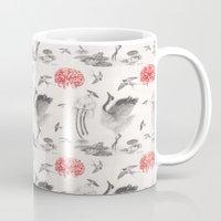 Crane, Swallow, Frog Mug