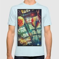 Up Up & Away Mens Fitted Tee Light Blue SMALL