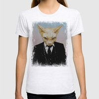 Mister Cat Womens Fitted Tee Ash Grey SMALL