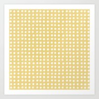 Orange Polka Pattern Art Print