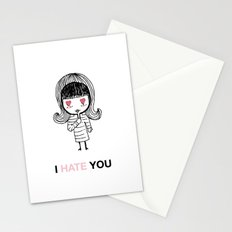 I Hate You / Mask Stationery Cards