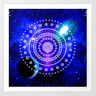 Electric Blue Universe Art Print