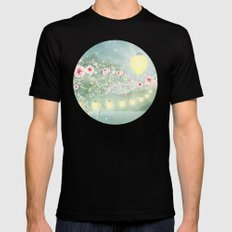Secret Garden Black Mens Fitted Tee SMALL