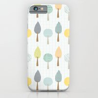 iPhone & iPod Case featuring trees by flying bathtub