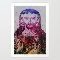 Thrice Christ Art Print