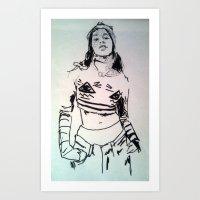 Azelia Art Print